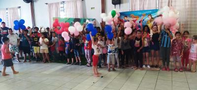 Dia da Criança Solidário reuniu mais de 100 crianças no Centro Comunitário Santo Antônio