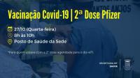 Vacinação contra a Covid-19 terá continuidade na próxima semana