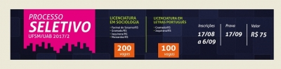 Processo Seletivo para Licenciatura em Sociologia acontece no domingo