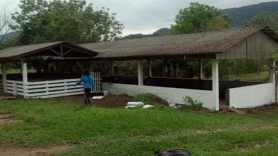 Secretaria realiza reforma em pavilhões no Horto