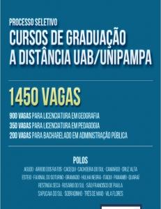Polo de Faxinal do Soturno oferta 50 vagas para Licenciatura em Geografia