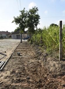 Prefeitura inicia construção de calçadas no perímetro urbano