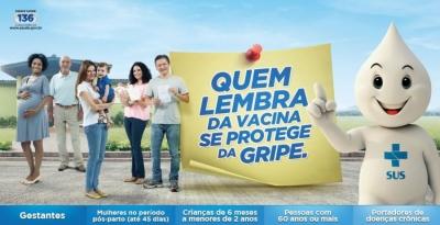 Campanha de vacinação vai até o dia 1º de junho