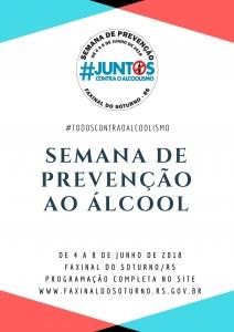 Programação da Semana de Prevenção ao Álcool