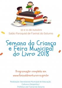 Faxinal recebe Feira do Livro e atividades alusivas ao Dia da Criança