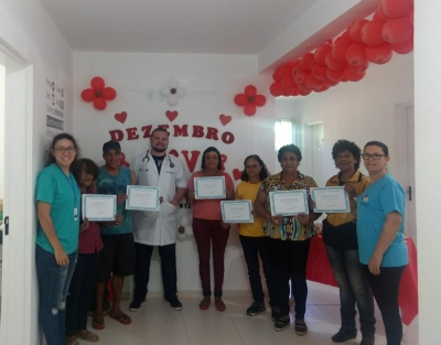 ESF de Santos Anjos realizou encerramento do grupo de tabagismo