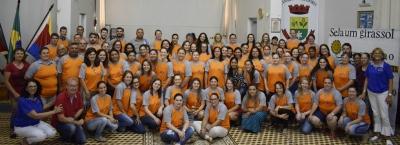 Secretaria promoveu formação para professores e profissionais de educação