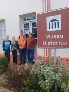 Italiano que estuda dialetos visitou o Museu de Novo Treviso
