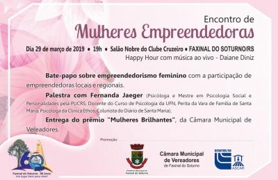 """""""Encontro de Mulheres Empreendedoras"""" será nesta sexta"""
